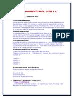 DIRECCIONAMIENTO IPV4 - CCNA 1 V7