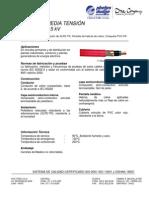 Hoja tecnica PDIC N2XSY 15 kV - Con AMPACIDAD
