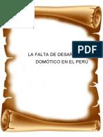 Tmeu 5la Falta de Desarrollo Domótico en El Perú