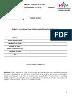 GT 5 - Formulário para Registro dos Debates