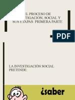 El proceso de investigación, social -primera parte