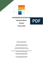PROGRAMA DE ESTUDIO 2009 1° GRADO