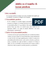 RESUMEN NOTARIAL PERSONAS JURÍDICAS ACTOS INSCRIBIBLES