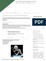 Internal Audit Checklist of Garments Manufacturing Industry - Garments Academy