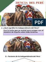 LA INDEPENDENCIA DEL PERU PPT