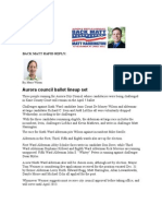 Back Matt Rapid Reply, Daily Herald Article Aurora's Ballot Line-up Set
