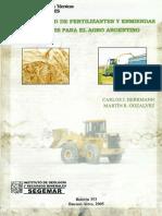 Disponibilidad de fertilizantes y enmiendas minerales para el agro argentino (1)