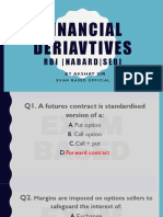 Important MCQs of Financial derivatives