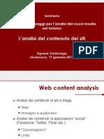 L'analisi del contenuto di un sito Internet