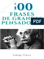 500 Frases de Grandes Pensadores - Sidney Vieira