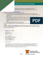 Sample Business Application Letter