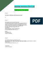 Employment Descriptions