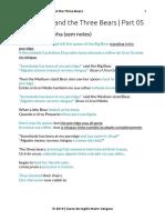PDF Goldilocks and the Three Bears 05