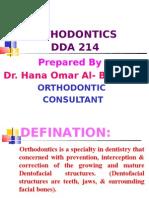 ORTHODONTICS (DDA214)