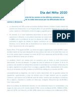 Ventas Día del Niño 2020