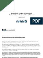 Statista iPad Studie 2010, Marktdaten, Kundenverhalten, Zielgruppe