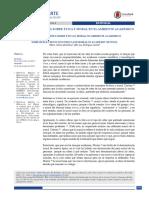 Artículo Ética y moral en el ambiente académico