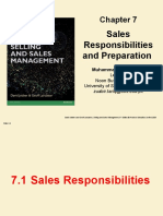 CH 07. Sales responsibilities and Preparation