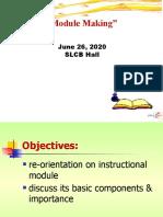 module preparation