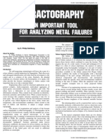 Fractography - An important tool for analyzing metal failurews