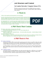 PhD Thesis Structure