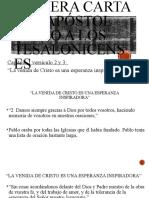 1 Tesalonicenses Capitulo 1 Vers. 2y3