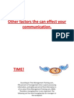Other factors the can effect your communication #1