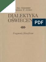 Dialektyka Oświecenia - Max Adorno Theodor W(1)
