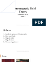 Electromagnetic Field Theory Lec1