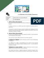Examen elementos de estados financieros