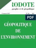 Magazine Herodote 165-Geopolitique de lenvironnement