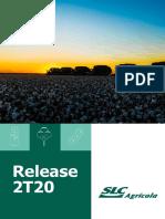 Informações dos Resultados Trimestrais SLC Agrícola SLCE3 2t20 2020