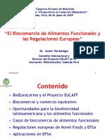 Javier Verastegui-Biocomercio y Regulaciones Europeas- junio 2009
