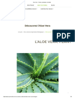 Aloe Vera - Culture, plantation, bienfaits