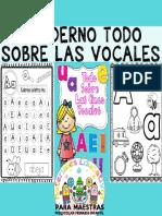 Cuaderno Aprendo Todo Sobre las Vocales