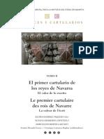 Códices y cartularios. Tomo II El primer cartulario de los reyes de Navarra.  E. Ramírez