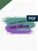 Apostila Grátis Brush LETTERING - Feito por Estude com Iza