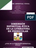Dimensión espiritual-ética de la literatura en preescolar