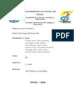 La etología - Psicología del desarrollo.