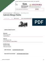 Gabriela Rábago Palafox - Detalle del autor - Enciclopedia de la Literatura en México - FLM - CONACULTA