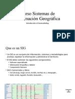 Curso Sistemas de Información Geográfica y Geomarketing