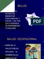 3. Definiciones sobre salud ocupacional