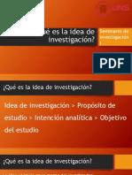PPT Qué es la idea de investigación
