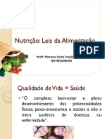 1 - Nutrição - Leis da Alimentação