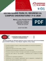 ESTRATEGIAS PARA EL REGRESO AL CAMPUS U