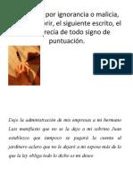 MOTIVACION PARA SIGNOS DE PUNTUACION