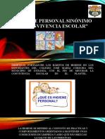 HIGIENE PERSONAL SINÓNIMO DE CONVIVENCIA ESCOLAR