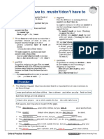 Must have to-WORKSHEET