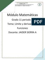 Modulo Matematicas Undecimo Tercer periodo