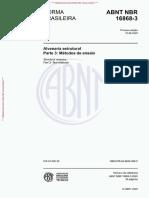 NBR 16868-3 - 2020 - Alvenaria Estrutural - Parte 3 Métodos de Ensaio